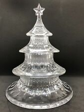 """Gorham A Holiday Tradition 3 Tier Christmas Tree 9 1/2"""" Candy Dish"""