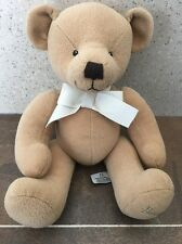 """HARRODS BROWN SEATED PLUSH TEDDY BEAR 10"""" BABY SOFT HUG COMFORTER SOOTHER TOY"""