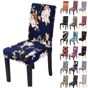 1/4/6/8 PCS Stretch Dining Chair Covers Wedding Banquet Party Seat Slip Cover