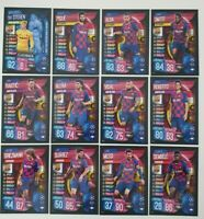 2019/20 Match Attax UEFA Soccer Cards - Barcelona Team Set