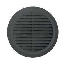 """Graphite Circle Air Vent Grille 100mm / 4"""" Ducting Ventilation Cover Grid T30GR"""