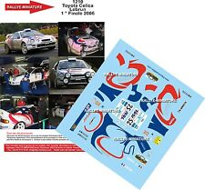 DECALS 1/24 REF 1210 TOYOTA CELICA GT4 LEBRUN FINALE DES RALLYES 2006 RALLY