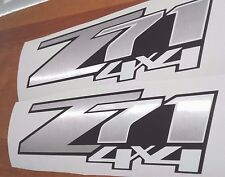 Z71 4x4 decals stickers silverado chevrolet, brushed chrome (set)