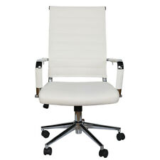 Modern Office Chair High Back Swivel Pu Leather Ergonomic Computer Desk Seat