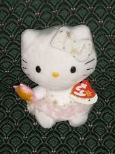 """Ty Beanie ~ HELLO KITTY ~ ANGEL ~ approximately 6"""" tall ~ MWMT~ Retired ~ HTF"""