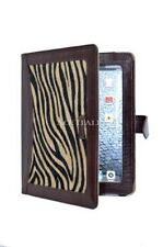 iPAD 2 3 & 4 Zebra Print Lambskin Luxury Real Genuine Leather Cover Case Stand