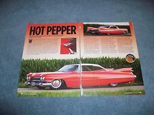 """1959 Cadillac Coupe DeVille RestoMod Custom Article """"Hot Pepper"""""""