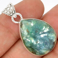 Peruvian Blue Opal 925 Sterling Silver Pendant SP181622