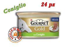 Purina Gourmet Gold umido Gatto Mousse con Coniglio 24 Lattine da 85 G...