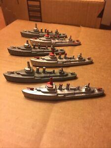 Vintage TootsieToy Navy Battleship Fleet Lot of Six (6) Destroyer K880 Ships
