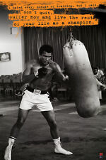 MUHAMMAD ALI PUNCHBAG 24x36 poster SONNY LISTON BOXING CHAMP ICON CASSIUS CLAY!!