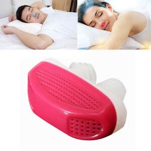 Anti Snore Silicone Nasal Dilators Apnea Aid Device Stop Snoring Nose Clip-RED