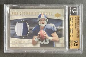 Eli Manning 2004 Upper Deck Rookie Foundations Patches Jersey Relic /25 BGS 9.5