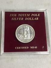 1958 CANADA TOTEM POLE SILVER DOLLAR