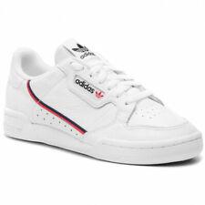 Scarpe Uomo Adidas Continental 80 Originals Sneakers Pelle Bianco White Rosso 40