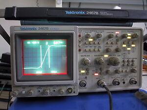 Calibrated TEKTRONIX 2467B 400MHz Briteye OSCILLOSCOPE; extras; low hours avail