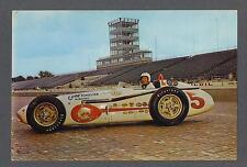 Roger Ward & Sam Hanks signed vintage King Size Indy 500 racing postcard