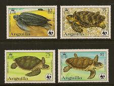 ANGUILLA : 1983 WWF Sea Turtles  set  SG560-3 unmounted mint