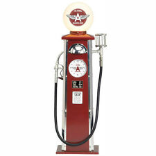 Flying A Vintage Look Gas Pump with Clock & Lighted Globe