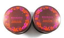 Lot/2 Bourjois Bronzing Powder ~ 04 Voile De Soleil Dore ~ .56 oz.Each ~
