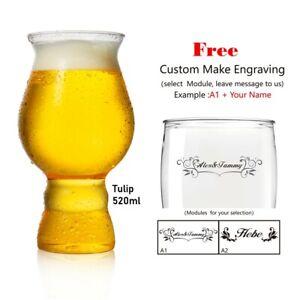 ToPanda Tulip Craft Beer Glass ( 2 pcs ) Cocktail Cup Plastic Mug Free Engraving