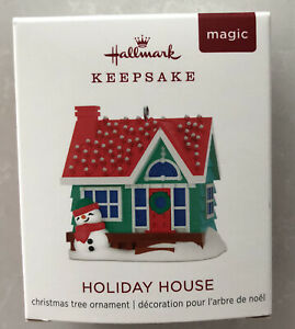 Hallmark Keepsake Ornament 2018 Miniature Holiday House Magic Light