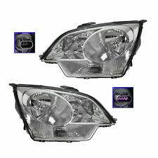 Headlights Headlamps Left & Right Pair Set for Saturn Vue Chevy Captiva Sport