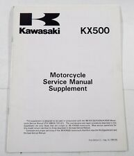 Kawasaki KX500 1989 Motorcycle Service Manual Supplement NEW