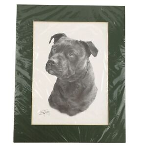 Staffordshire Bull Terrier Print Mike J Sibley Dog Art Animal Canine Picture Dec