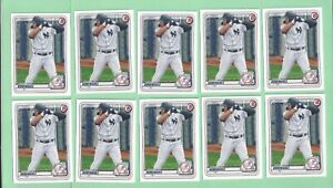 10 card lot of 2020 Bowman Draft #151 Jasson Dominguez - Yankees - 5 available