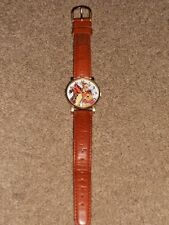 Timex Tigger & Buddy Bear Watch With Brown Leather Pooh Water Resistant