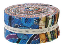 "NEW Jelly Roll 40 Piece Australian Aboriginal 2.5"" Precut Quilting Strips Craft"