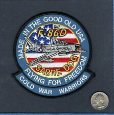 F-86D F-86 SABRE DOG USAF North American Aviation TFS FIS Fighter Squadron Patch