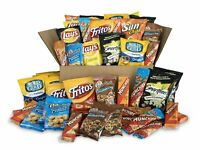 Sweet & Salty Snacks Variety Box, Mix of Cookies,Crackers Chips & Nuts, 50 Count