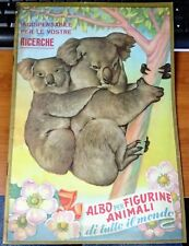 Album Figurine ALBO PER FIGURINE ANIMALI DI TUTTO IL MONDO Ed. Lampo 1951 orig.