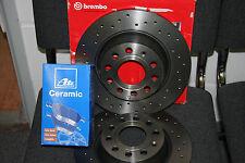 Brembo Xtra discos de freno y ATE-Ceramic balatas + WK. VW Golf IV en la parte delantera