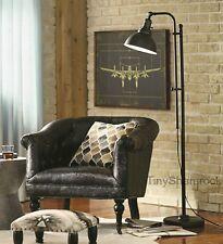 Industrial Style Rustic Floor Lamp Reading Task Light Adjustable Accent Lighting