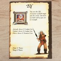 ELF CHARACTER CARD - HEROQUEST 1989 EDITION