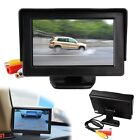 "New 4.3"" DVD VCR TFT LCD Color Monitor For Car Reverse Rearview Backup Camera"
