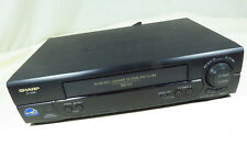 Sharp Vc-A582 4-Head Super Picture Vcr 19 Micron Great Picture w/ Manual~ Works