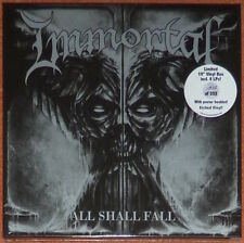 "Immortal - All Shall Fall. Vinyl box set with four 10"" white discs."