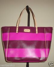 New Kate Spade Ellison Avenue Sidney Large Tote WKRU2751 Moody Plum Snapdragon