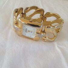 JOAN RIVERS Classics Goldtone Chunky Link Bracelet Watch - New Battery