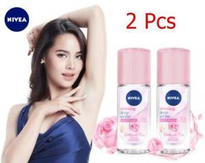 2 Pcs Nivea Whitening Deep Serum Hokkaido Rose Vit C Reduce Sweat Deodorant 40ml