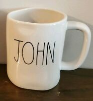 "New! Rae Dunn by Magenta ""JOHN"" LL Personalized Coffee TEA Mug HTF Rare"