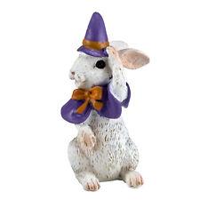 "Mini Miniature Halloween Witch Bunny Rabbit Figurine 2.25"" High New!"