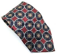 "Tootal Men's Tie Red Abstract 100% Silk 3.75"" Width 62"" Length"
