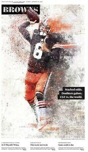 NFL playoffs January 10 2021 Plain dealer cleveland browns steelers newspaper