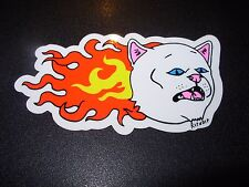 RIPNDIP Skate Sticker FLAMING CAT rip n dip skateboards helmets decal