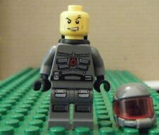 LEGO MINI–SPACE-SPACE POLICE III-OFFICER 14, BLACK AIRTANKS – GENT USED